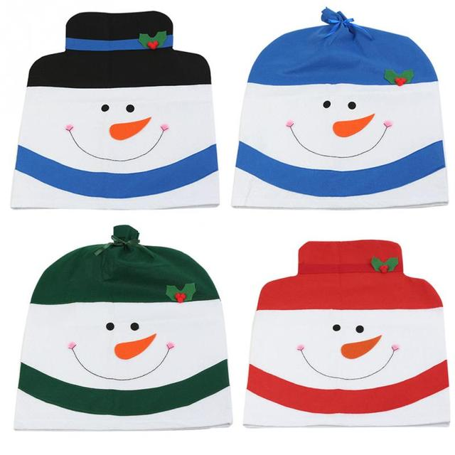 kitchen chair back covers. 1 Pcs Christmas Chair Back Cover Snowman Hat Decor Decorative For Home Dinner Table Kitchen Covers .