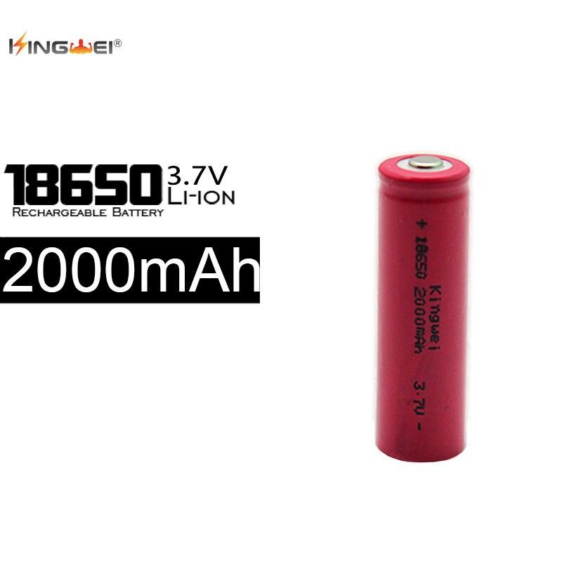 Ventes Directes d'usine KingWei 100 Pcs 2000 mAh 18650 Batterie 3.7 v Rechargeable Li ion Batteries