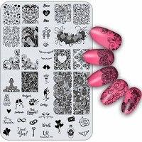 10pcs/set Nail Stamping Sets Lace/Halloween/Christmas Designs Image Steel Plates Nail Art Templates DIY Salon Tools