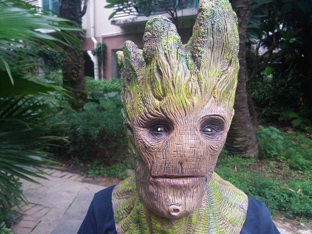 Envío Libre Groot Guardianes de la Galaxia Dryad Máscara Máscaras de Látex de Halloween Masquerade Party Face Hombre Árbol