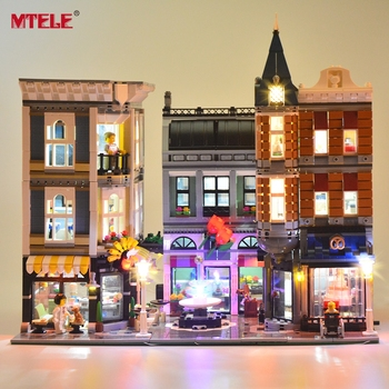 MTELE LED Light kit For 10255 The Assembly Square Set City Building Block Light Set Compatible with 15019 (Not Include Model) цена 2017