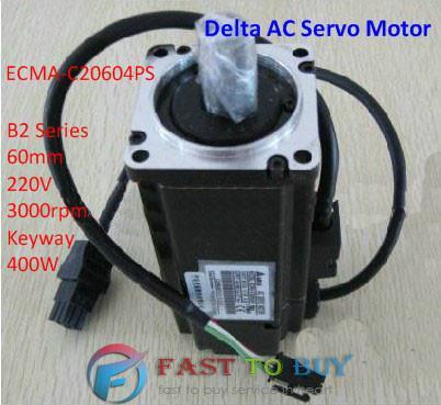 Delta AC Servo Motor B2 Series ECMA-C20604PS 60mm 220V 3000rpm Keyway 400W New инструменты для макияжа unbranded 1