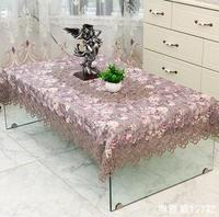 European style lace tablecloth high grade fabric table cloth / Beige table cloth TV cabinet cover cloth
