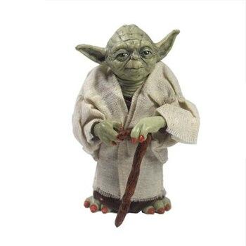 12 см Star Wars Jedi Knight Мастер Йода ПВХ фигурку Коллекционная модель игрушки куклы для детей Рождественский подарок