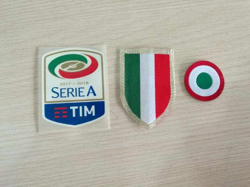 2017 2018 Italia Calcio patch Silicone Serie A patch rode coppa Italia Cirkel Scudetto patch Scudetto + Italië Cup patches