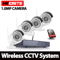 Plug And Play 4CH Wireless NVR Kit P2P 1080P HD Outdoor IR Night Vision IP Video