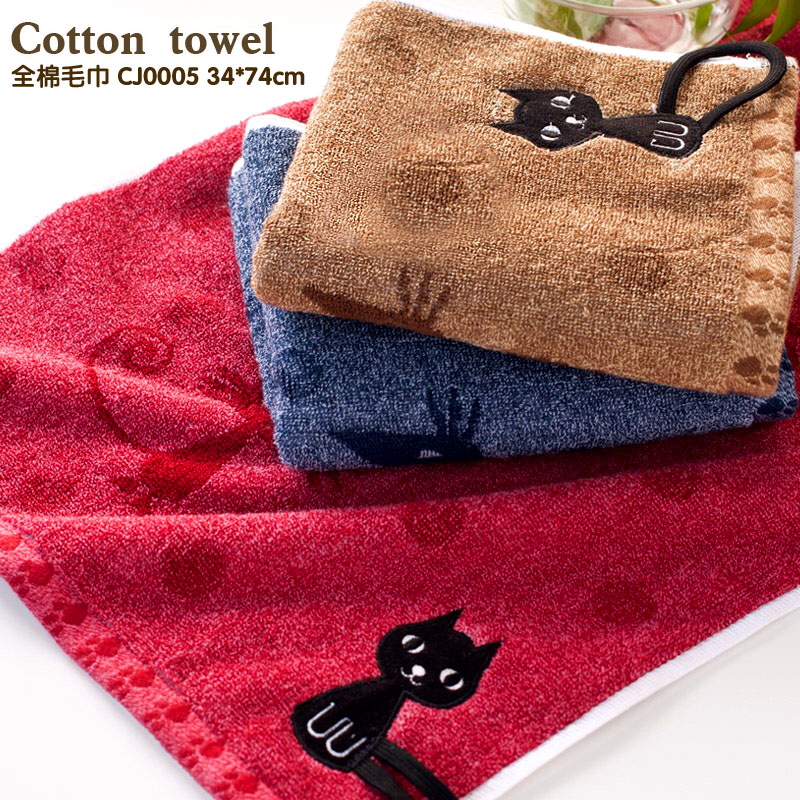 Embroidered Terry Cloth Hand Towels: 34*74cm 110g Decorative Cotton Terry Hand Towels,Elegant