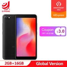 Küresel Sürüm Xiaomi Redmi 6A 18:9 Tam Ekran MTK Helio A22 MIUI 9 2 GB 16 GB 4G LTE AI 13.0MP Yüz Tanıma 6 Bir Telefon