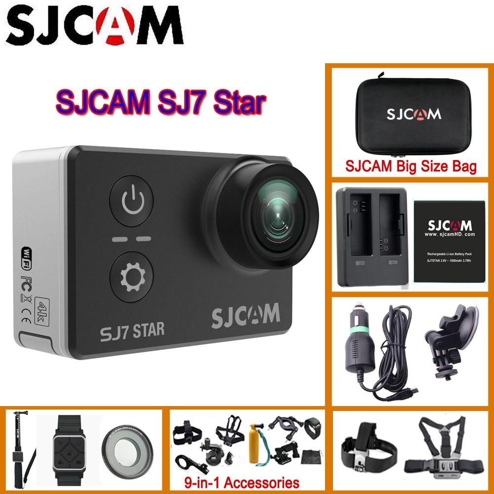 SJCAM sj7 Star Wi-Fi 4 К 30 P 2' Сенсорный экран удаленного Действие шлем спорта Камера Водонепроницаемый Ambarella A12 чип видеокамера SJCAM sj7