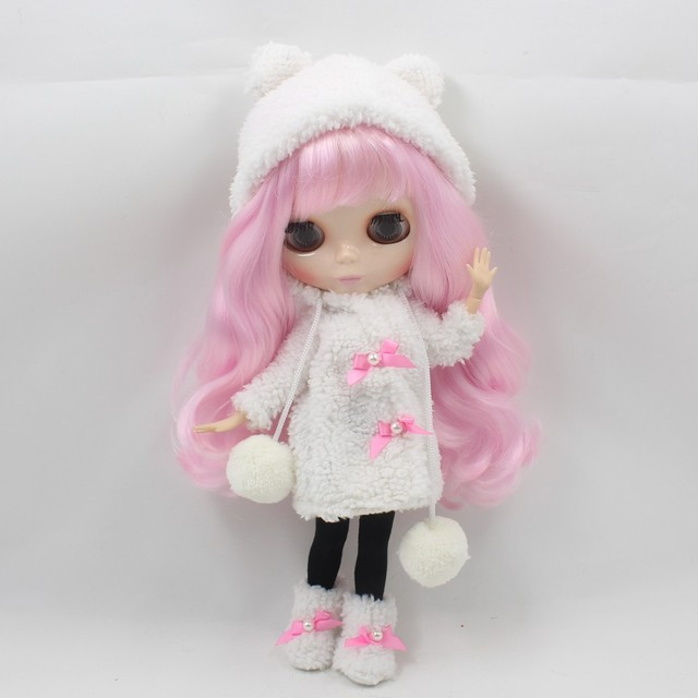 Neo Blythe Doll Winter Fur Coat