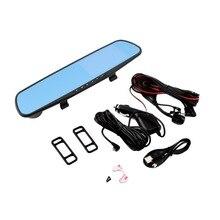 Univeral Double Lentille TFT LCD Parking Vue Arrière de Voiture Miroir Moniteur 4.3 »Rétroviseur Moniteur pour la Sauvegarde Caméra de Recul avec G-capteur