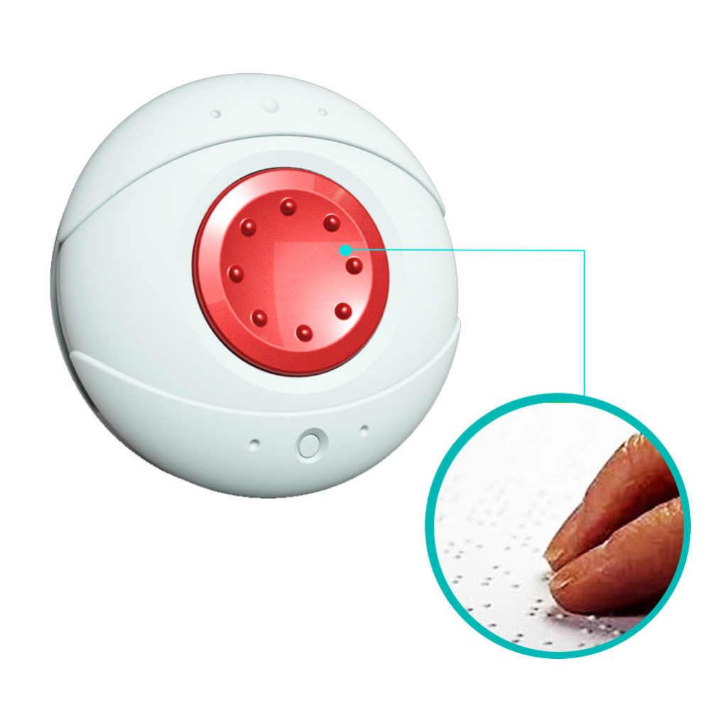 2 piezas-Lobo guardia inalámbrico resistente al agua reloj de pulsera collar de emergencia SOS botón de pánico sistema de alarma para Ancianos/pacientes/ niño