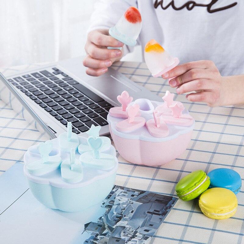 Овальный эллиптической силиконовые формы мороженого Popsicle Плесень Ice Cube инструмент Замороженные Popsicle конфеты держатель