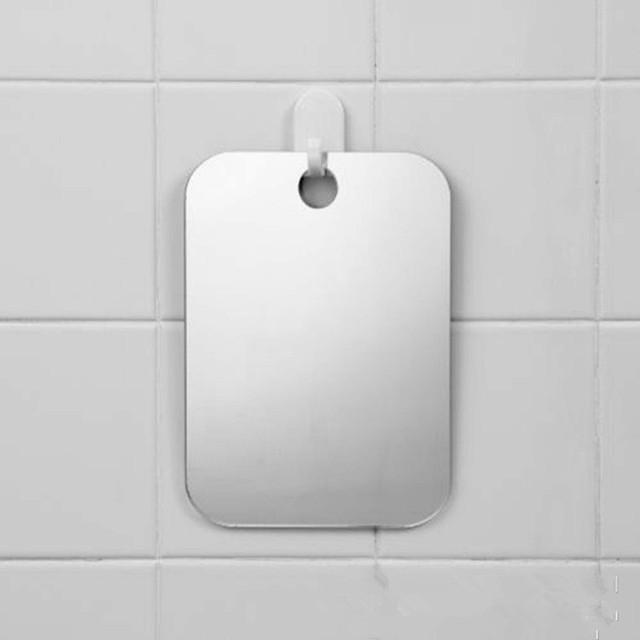 Akrylowe przeciwmgielne lustro prysznicowe łazienka Fogless przeciwmgielne lustro ubikacja podróży dla człowieka lusterko do golenia dla podróży 13*17cm #30 tanie i dobre opinie Acrylic CN (pochodzenie) Podwójny arm wydłużyć Plac Nowoczesne Approx 17 x 13cm Nie posiada Bezramowe lustra Inne