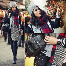 2015 winter Details about Lady Women Blanket Oversized Tartan Scarf Wrap Shawl Plaid Cozy Checked Pashmina