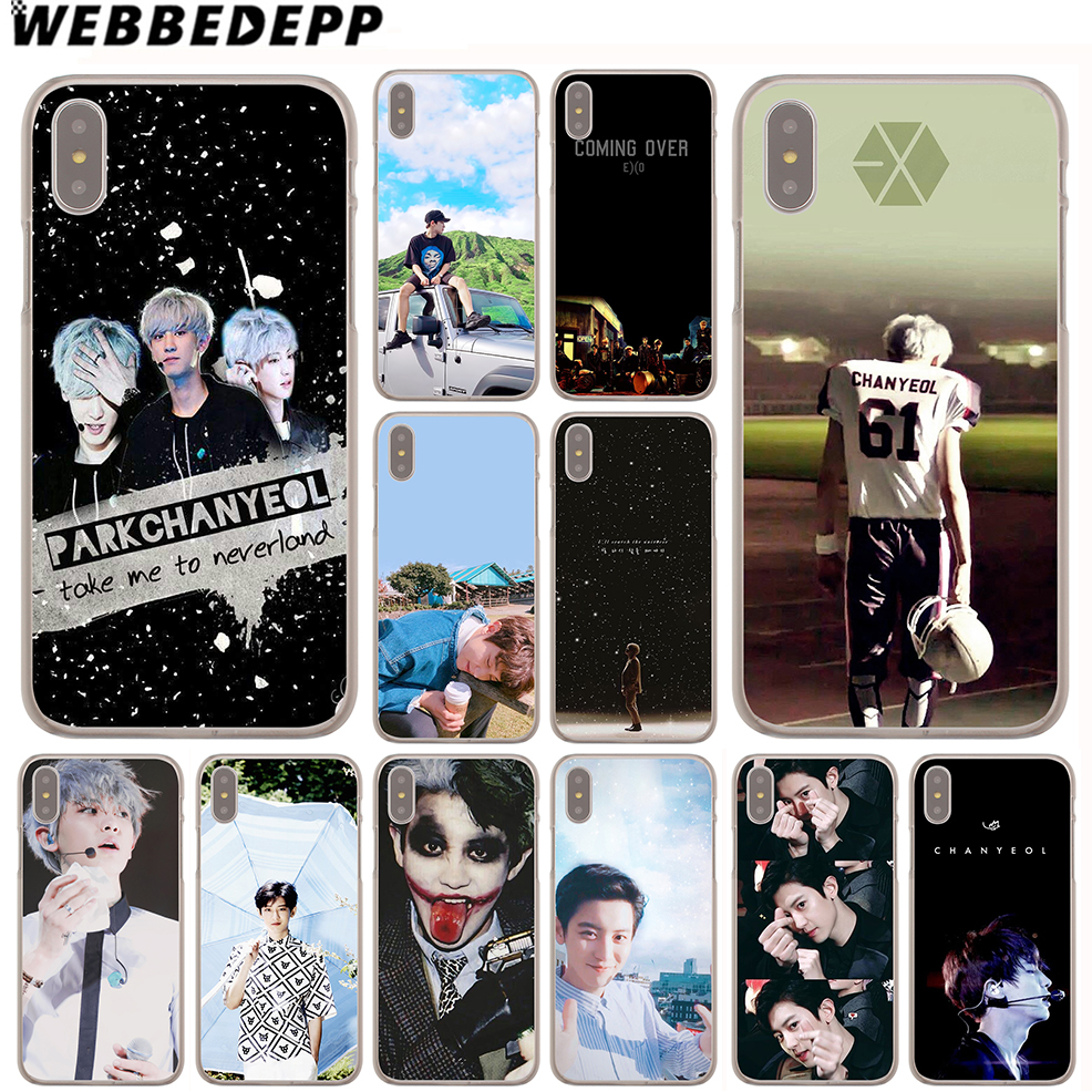 WEBBEDEPP Chan Yeol EXO Case for iPhone X or 10 8 7 6 6S Plus 5 5S SE 5C 4 4S ...