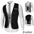 The new 2016 men 's fashion A premium brand Business suit vest /Male Two pieces of decorative waistcoat leisure suit vest jacket