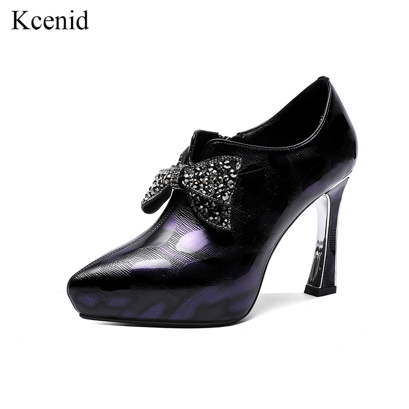 2019 Kcenid Papillon Noeud Femme Véritable Strass Pompes Hauts Y6gbyvf7