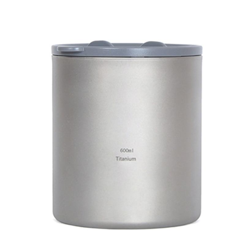 ФОТО Keith 600ml Mugs Titanium Double-wall Mug With Lid Water Glass No Odor No Scale Anti-acid Drinkware Cup For Camping Hiking Ti83