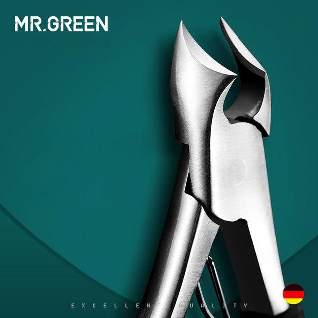 MR.GREEN Toeใหม่Professionalสแตนเลสสตีลเล็บTrimmer Artคีมกรรไกรเล็บClipperเล็บตัด