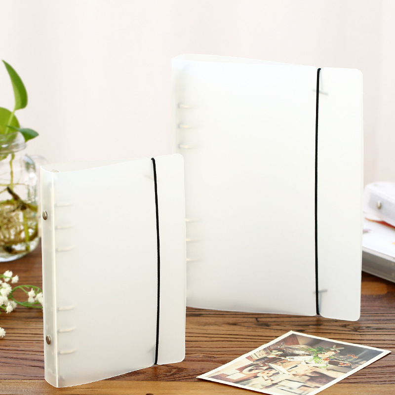 Creative Spiral Notebook Transparent Cover Plastic Clip