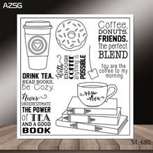 Coffee/book  Transparent Silicone Clear Stamps/seal for DIY Scrapbooking/Card Making/Photo Album Decoration Supplies