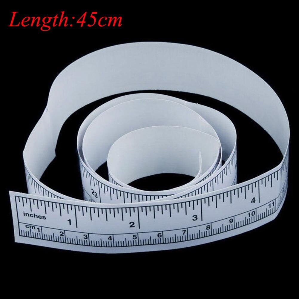 New Self Adhesive Metric Measure Tape Vinyl Silver Rulers Sewing Machine Sticker Measure Tape car