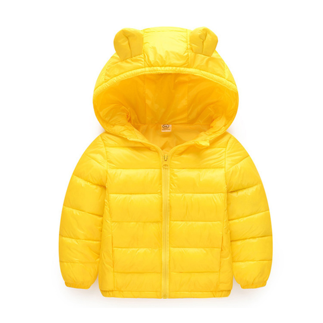 Hooded Jacket for Girls Cotton Parkas