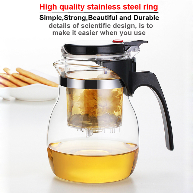 WALFOS High quality Heat Resistant Glass Teapot Chinese kung fu Tea Set Puer Kettle Coffee Glass Maker Convenient Office Tea Pot 1