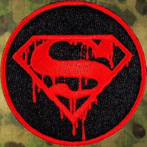 Superman Death The Walking Dead Morale Movie Embroidered Logo Iron On Patch Girl Emo Goth Punk Patchwork Accessories Clothes Arts,crafts & Sewing Home & Garden
