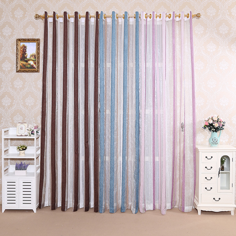 Image 1 - Quality Rome curtains,curtains,vertical screens,living room bedroom, silver stripes, silver screens, yarn dyed jacquard curtains-in Storage Bags from Home & Garden
