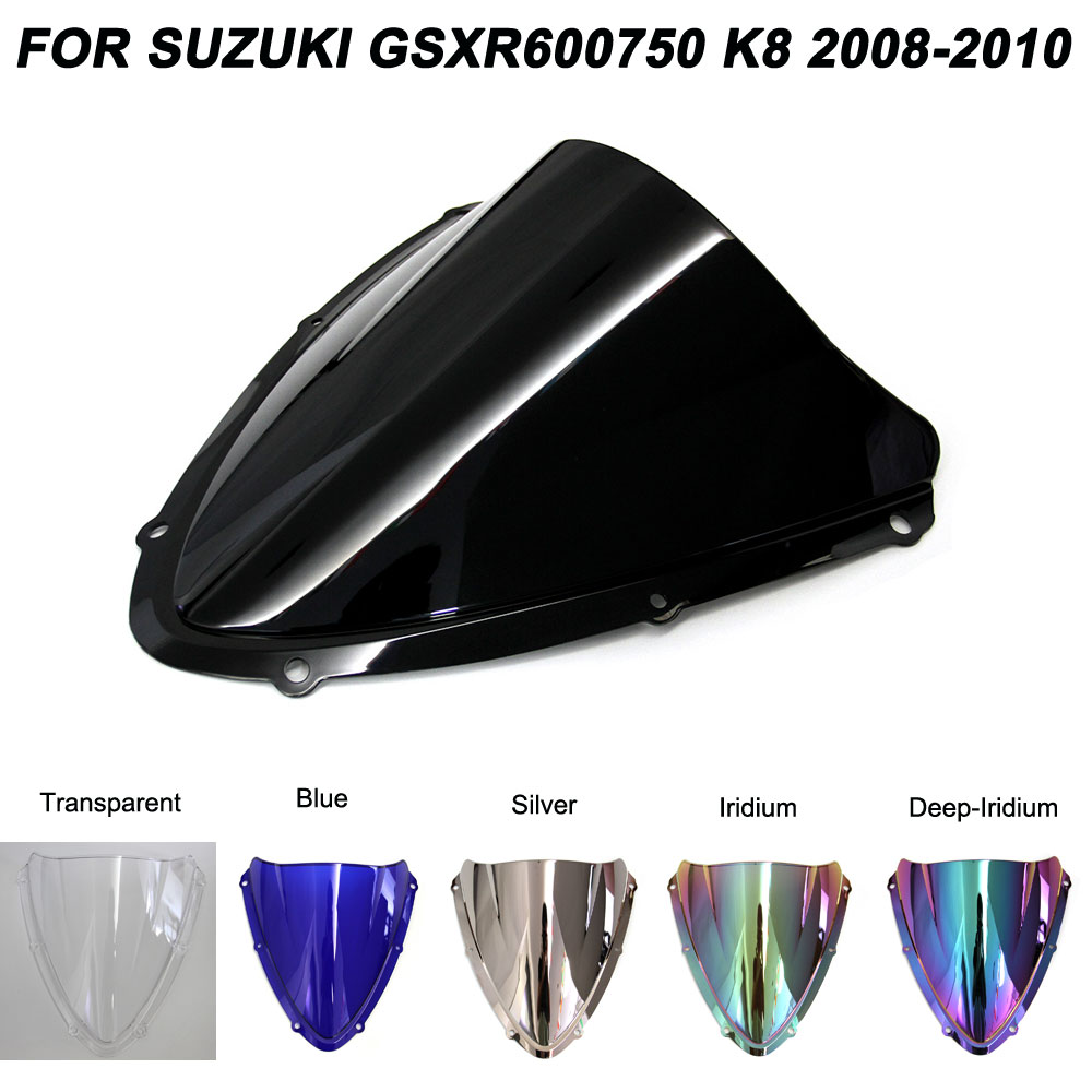 ABS Windscreen For Suzuki GSXR600 GSXR750 GSXR 600 <font><b>750</b></font> K8 <font><b>2008</b></font> 2009 2010 Motorcycle Windshield Wind Deflectors image