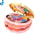 Paleta de sombra de ojos 18 Color de Moda Ronda de Múltiples Capas de Caja de Cosméticos Paleta de Maquillaje Maquillaje Paleta de Maquillaje de Sombra de Ojos Set H72