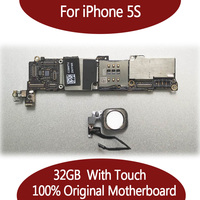32GB For IPhone 5S Original Motherboard With Touch ID Factory Unlock Mainboard With Fingerprint Logic Board