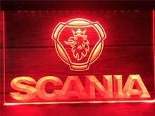 R096 Scania Car Truck LED Neon Light Signs(China)