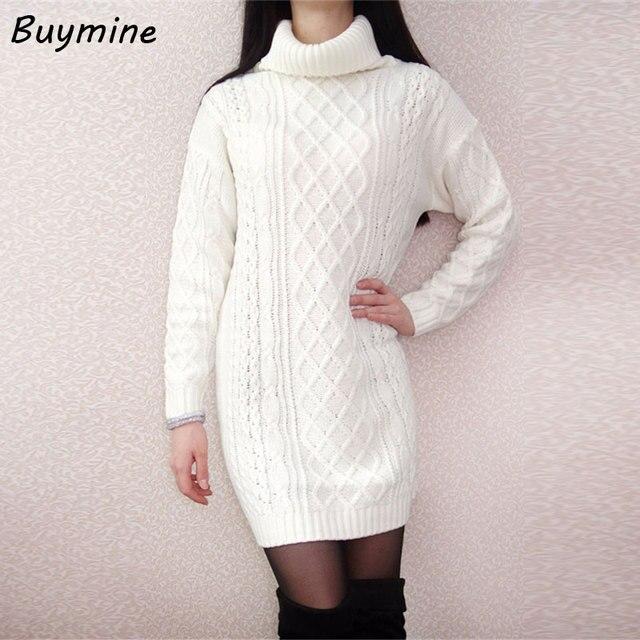 Witte wollen jurk