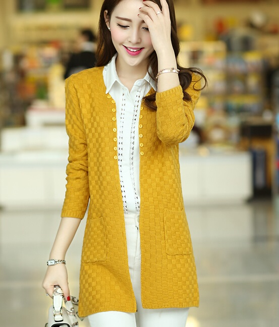 Women Winter Clothes Fashion Cardigans Long And Full Solid Cute ...