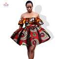 Al por mayor! 2017 Africano Vestido Estampado para Las Mujeres Sexy Vestidos de Fiesta Cortos de África Las Mujeres Más Tamaño Ropa de Verano Vestido WY1046