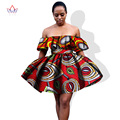 Wholesale!2017 African Printed Dress for Women Sexy Short  Party Dresses Africa Women Plus Size Clothing Summer Dress WY1046