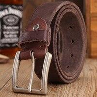 2016 New Arrival Cowboy Belt 100 Real Full Grain Cowhide Genuine Leather Camel Designer Belts Men