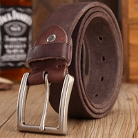 2016 New Arrival Cowboy Belt 100 Real Full Grain Cowhide Genuine Leather Camel Designer Belts Men