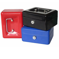 N Portable Safe Box Money Jewelry Storage Collection Box For Home School Office With Compartment Tray