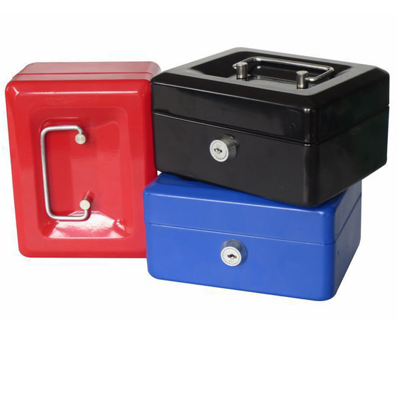 N Portable Safe Box Money Jewelry Storage Collection Box For Home School Office With Compartment Tray Lockable Security Box S free shipping mini portable steel petty lock cash safe box for home school office market lockable coin security box