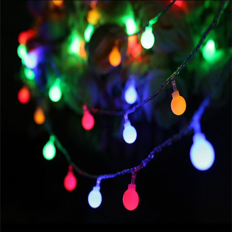 Ball światła na zewnątrz 10M 100 LEDS Fairy Christmas Lights 220V - Oświetlenie wakacje - Zdjęcie 5