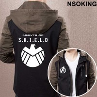 2017 New Spring Autumn Captain America Hoodie The Avengers Agents Of S H I E L