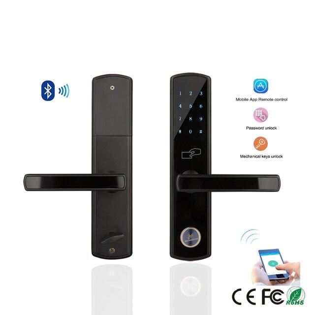 Bluetooth inteligente cerradura electr nica teclado mortaja cerradura de la puerta para el hogar - Cerraduras electronicas para casa ...