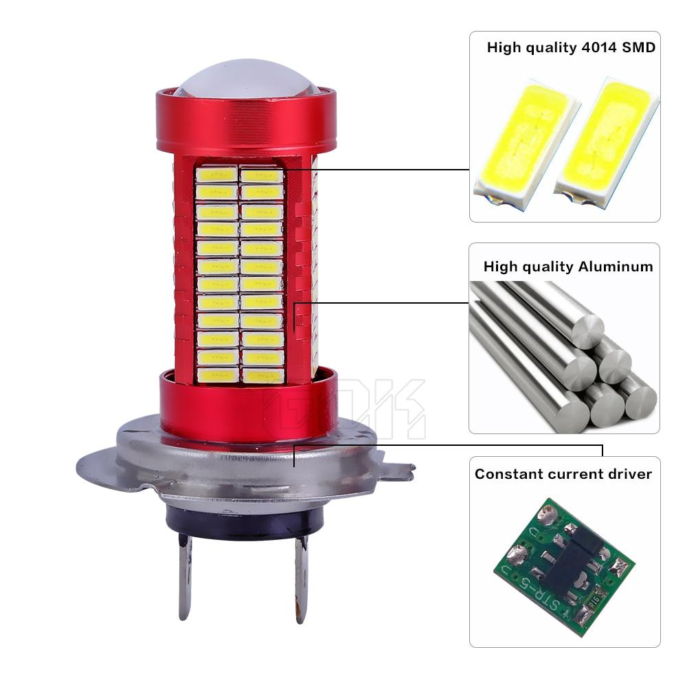 2 x H4 H8 H11 9005 9006 h7 smd 4014 led h7 106smd LED-lamp Running - Autolichten - Foto 3
