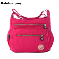 Hot Women Messenger Bag Nylon Women Bags Shoulder Crossbody Bags Fashion Ladies Handbags 9 Color School