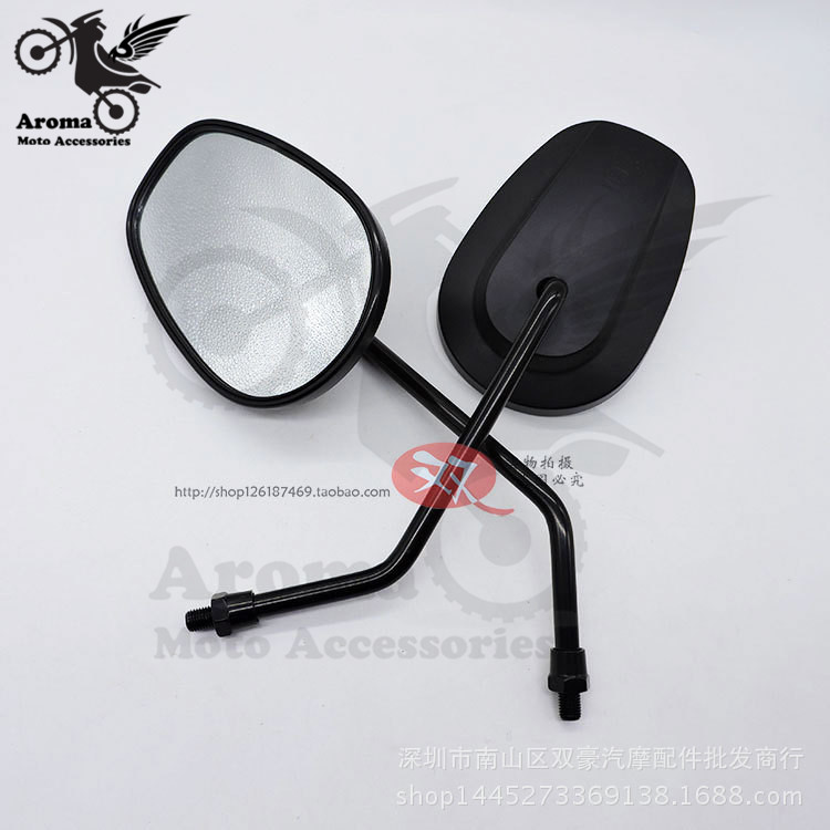 big size black moto side mirrors unviersal 8MM 10MM motorcycle rearview mirror for kawasaki honda suzuki harley moto accessories