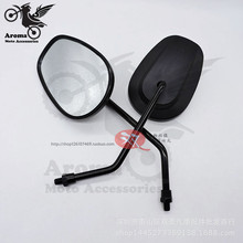 big size black moto side mirrors unviersal 8MM 10MM motorcycle rearview mirror for kawasaki honda suzuki harley accessories